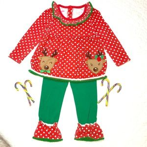 🥰Adorable Nannette Kids 2-pc.🎅🏻Holiday🎄outfit